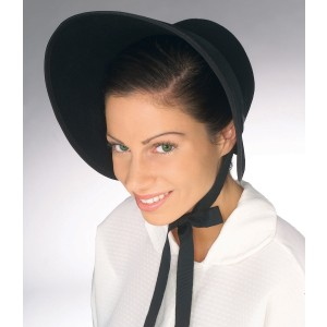 Felt Bonnet Adult - Black / One-Size