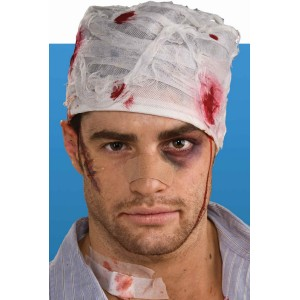 Bloody Head Bandage Adult - Red / One-Size