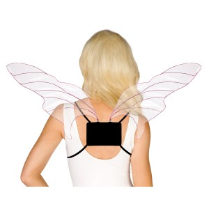 Adjustable Pink Cellophane Wings