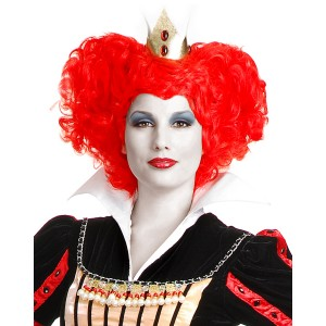 Red Queen Wig Adult - Red / One-Size