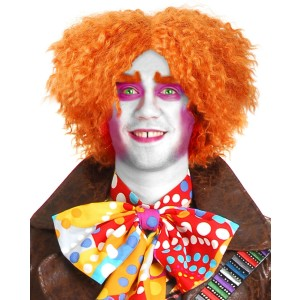 Electric Mad Hatter Wig Adult - Orange / One-Size