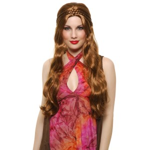 Brown Flower Child Wig Adult