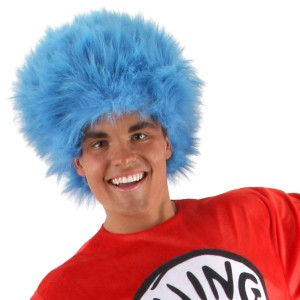 Dr. Seuss The Cat in the Hat - Thing 1 and Thing 2 Wig Adult - Blue / One-Size
