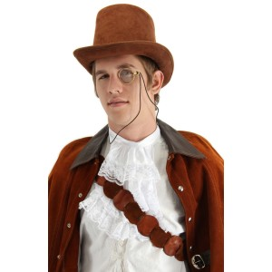 Steampunk Monocle Adult - Brown / One-Size