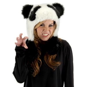 Panda Bear Hug Hat Adult - Black / One-Size