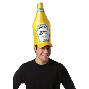 Heinz Classic Mustard Bottle Hat Adult - Yellow / One Size Fits Most Adults