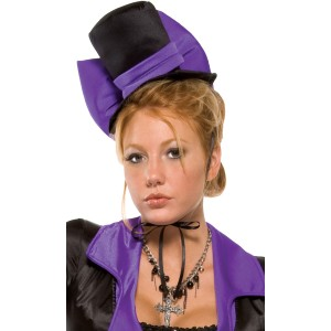 Purple Bow Vampire Hat Adult - Purple / One-Size