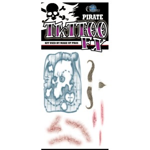 Pirate Tattoos - Black / One-Size