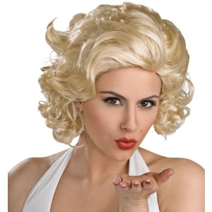 Marilyn Monroe Deluxe Wig Adult - Yellow / One-Size