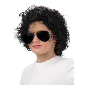 Michael Jackson Curly Wig Child - Black / One-Size