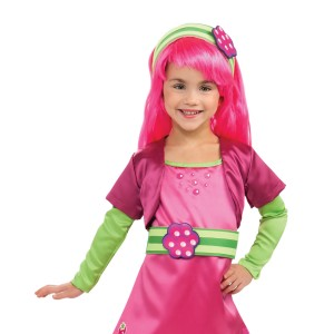 Strawberry Shortcake - Raspberry Torte Wig Child - Pink / One-Size