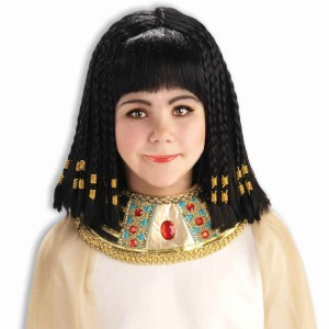 Queen Of The Nile Wig Child - Black / One-Size