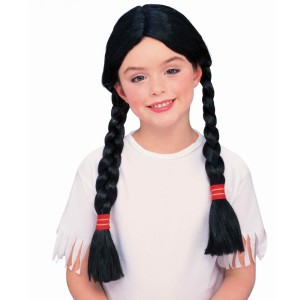 Native American Princess Wig Child - Black / One-Size