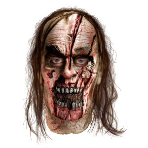 The Walking Dead - Zombie With Split Head Deluxe Mask Adult - Gray / One-Size