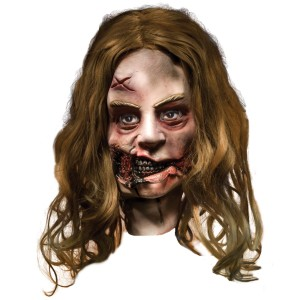 The Walking Dead - Little Girl Zombie Deluxe Mask Adult - Gray / One-Size