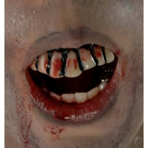 The Walking Dead Bloody Teeth Adult - Red / One-Size