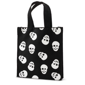 Skull Felt Bag - Black / One-Size