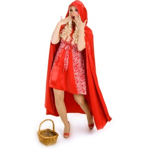 Princess Red Riding Hood Cape Adult - Red / One-Size (Standard)