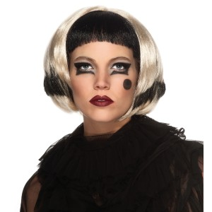 Lady Gaga Black/Blonde Wig Adult - Black/Blonde