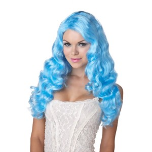 Sweet Tart Blue Adult Wig - Blue