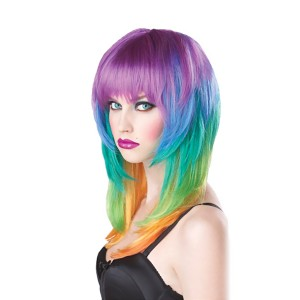 Kaleidoscope Adult Wig - Multi-colored / One-Size