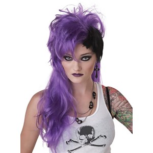 Smash Purple Adult Wig - Purple / One-Size