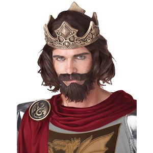 Medieval King Brown Adult Wig - Brown / One-Size