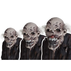 Zombie Ani-Motion Adult Mask - Gray / One-Size