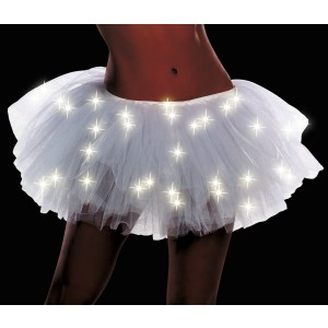 Light Up White Adult Tutu - White / One-Size