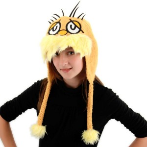 Dr. Seuss Lorax Hoodie Hat Adult - Orange / One-Size