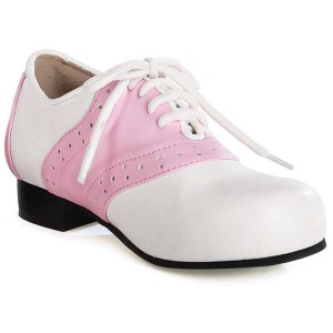 Saddle White / Pink Adult Shoes - White/Pink / 7