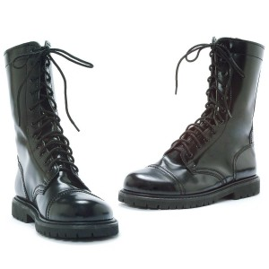 Combat Adult Boots - Black / Large (12/13)
