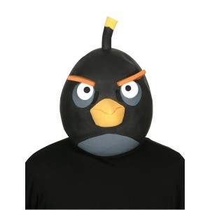 Rovio Angry Birds Black Bird Latex Mask Adult