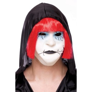 Creepers Crackedy Ann Adult Mask with Hair - White / One-Size