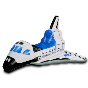 Jr. Space Explorer Child Inflatable Space Shuttle - White/Blue / One-Size