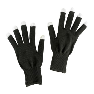 Light-Up Child Gloves - Black / One-Size