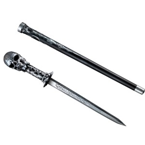 Skull Cane Sword - Black / One-Size