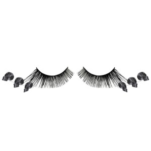 Skull Eyelashes Adult - Black / One-Size