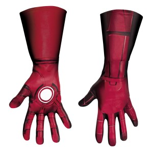 The Avengers Iron Man Mark VII Deluxe Gloves Adult - Red / One-Size