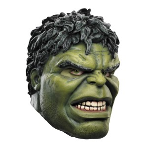 The Avengers Deluxe Hulk Mask Adult - Green / One-Size
