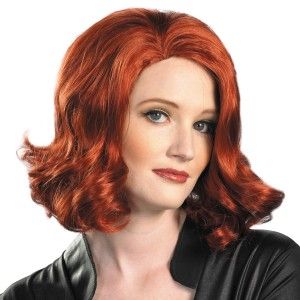 The Avengers Black Widow Wig Adult - Red / One-Size