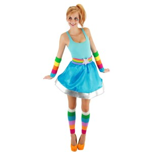 Rainbow Brite Adult Arm And Leg Warmers - Multi-colored / One-Size