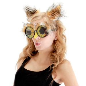 Owl Ears And Glasses Adult Accessory Kit - Brown & Tan / One-Size