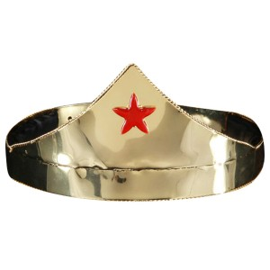 Star Gold & Red Adjustable Adult Crown - Red/Gold / One-Size