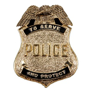Antique Gold Police Badge - Copper / One-Size