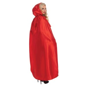 Fancy Masquerade Red Adult Cape - Red / One-Size