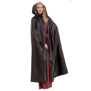 Fancy Masquerade Black Adult Cape - Black / One-Size