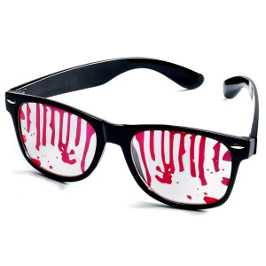 Bloody Zombie Adult Glasses - Black/Red / One-Size