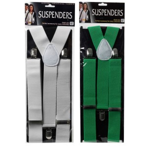 Stylish Adult Suspenders - White