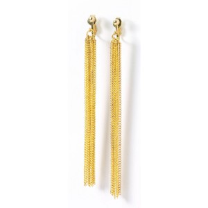 Disco Chain Adult Earrings - Gold / One-Size